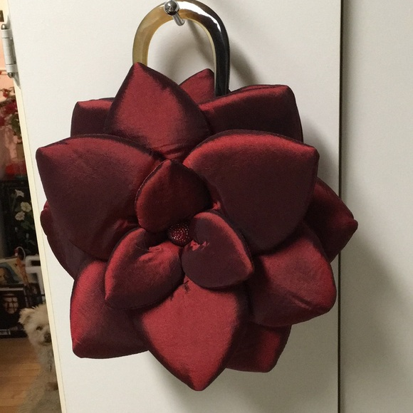 Mad Bags Bags Used Mad Bag Red Lotus Flower Hand Bag Poshmark